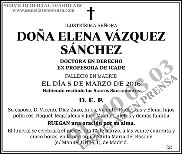 Elena Vázquez Sánchez